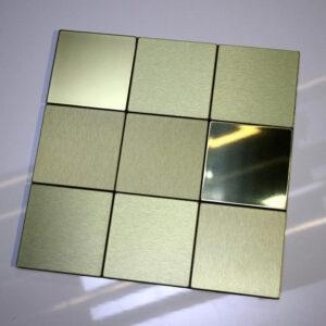 کاشی استیل طلایی 25 سانتی