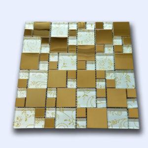 تایل میکس سفید طلایی 30 سانتی