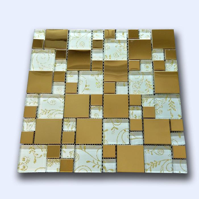 کاشی میکس سفید طلایی 30 سانتی کد 17110