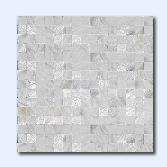 کاشی صدفی فول سفید 30 سانتی کد 20206